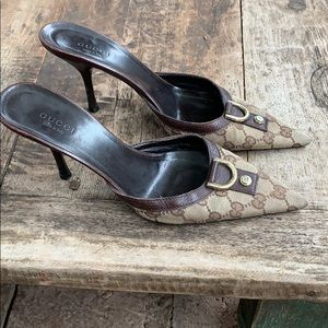 Gucci pointy mules size 7.5